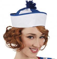 chapeau marin pompon bleu