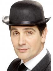 chapeau melon adulte noir