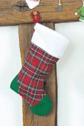 Chaussette de Noël rouge de 90 cm pas cher