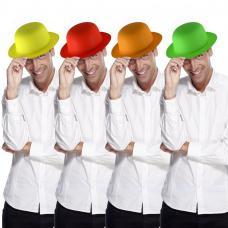 chapeau melon fluo en plastique