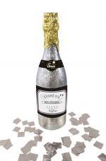 bouteille lance confettis argent