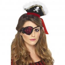 cache oeil en dentelle pour femme pirate