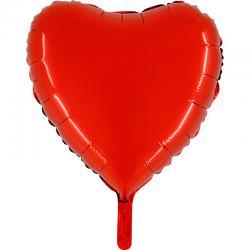 Ballon métallisé coeur rouge pas cher