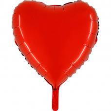 ballon metallise coeur rouge