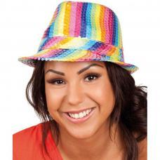 chapeau trilby multicolore