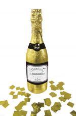 bouteille lance confettis or