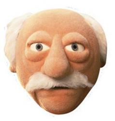 Masque Waldorf du Muppet Show
