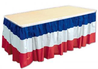 jupe de table couleur nationale