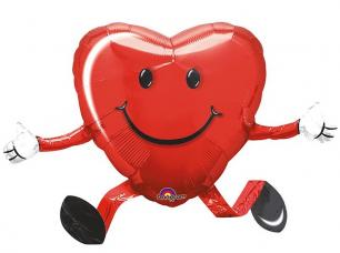 ballon coeur rouge happy hugs