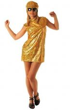 deguisement robe or disco