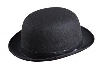 chapeau feutre melon adulte noir