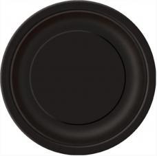 assiettes ronde noir