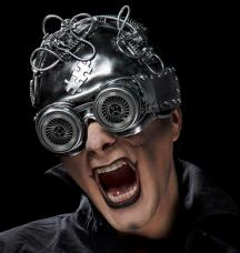 masque lunettes futuriste