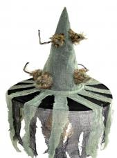 Chapeau Sorcière avec Tissu et Rats Poilus