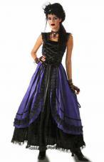robe gothique noire et violette adulte