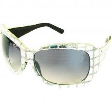 lunettes disco pailletees argent
