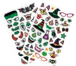 24 stickers sang décoration halloween