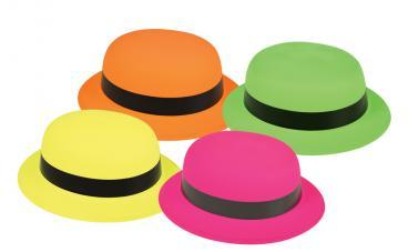 chapeau melon plastique adulte