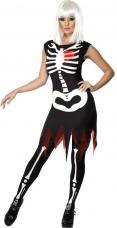deguisement femme squelette lumineux