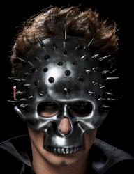 Masque demi tête de mort futuriste pas cher