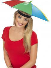 chapeau ombrelle multicolore