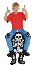 costume a dos de squelette enfant