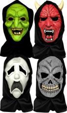 masque halloween visage complet avec cagoule