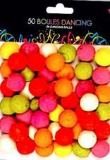 sachet 50 boules dancing multicolore
