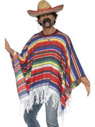 Poncho Mexicain rainbow pas cher