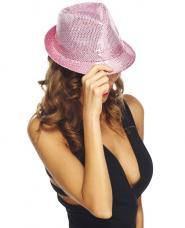 chapeau trilby rose sequins