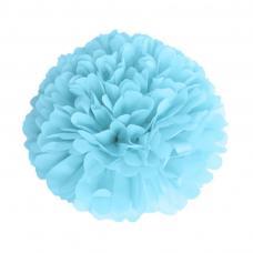 pompom bleu dragee