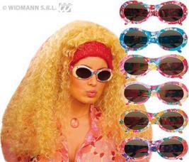 lunettes hippie fleuries