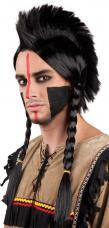 perruque indien mohwak