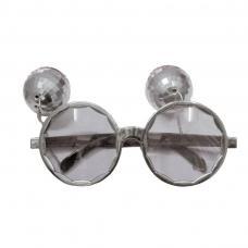 lunettes disco avec boule argent