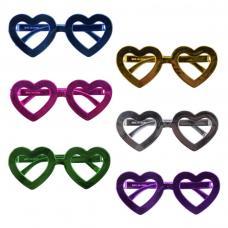 lunettes coeur metallisees