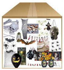 kit deco table salon halloween