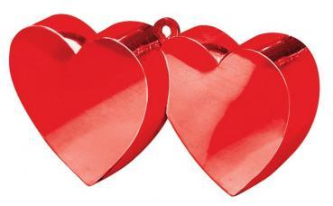 poids a ballon coeur rouge