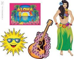 Set de 4 décorations hawaïennes pas cher