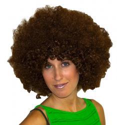Perruque Afro Châtain pas cher