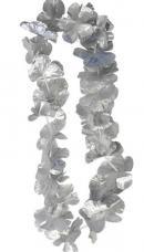 collier hawaien tissu argent