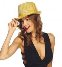 chapeau trilby or sequins
