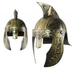 casque de gladiateur or et noir
