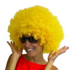 Perruque Afro Jaune pas cher