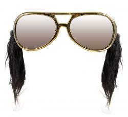lunettes elvis avec rouflaquettes