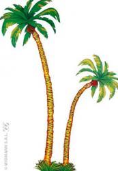 Décoration palmier en carton