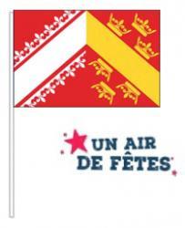 Sachet de 10 drapeaux Alsace en papier pas cher