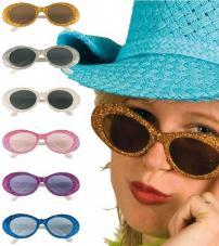 lunettes retro pailletees