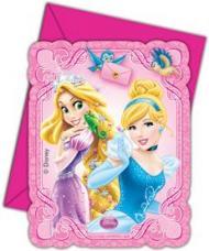 cartes invitation anniversaire + enveloppe pour princesses