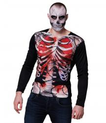 Tee-shirt squelette pas cher