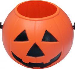 Halloween : citrouille pot plastique